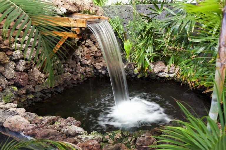 Brunnen mit Teich