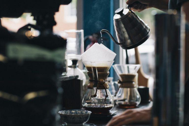 Kaffee wird aufgebrüht