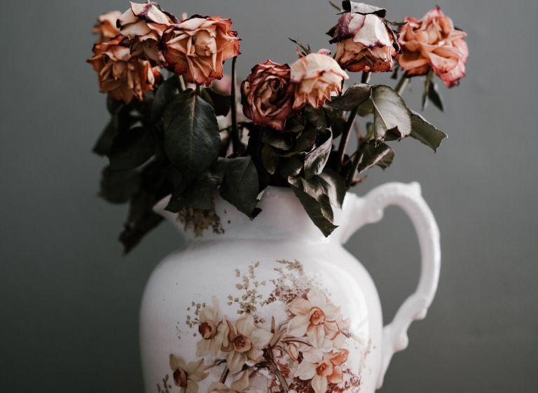 Verdorrte Blumen