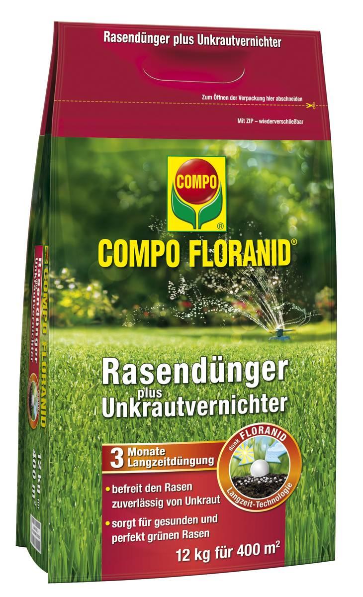 Compo Rasendünger mit Unkrautvernichter in verschiedenen Größen