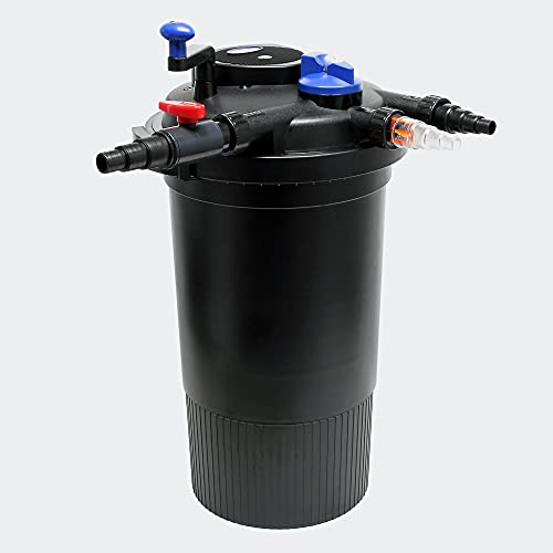 SunSun CPF-15000 Druckteichfilter 10000 L/h mit UVC Klärer 18 W bis 30000 L Teichvolumen