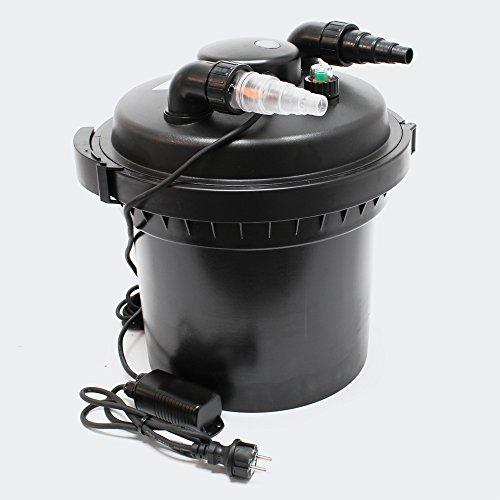 Wiltec SunSun CPF-280 Druckteichfilter mit UVC 11 W Teichklärer für Teiche bis 8000 L