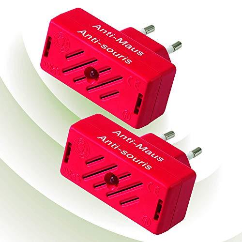 ISOTRONIC Mäusevertreiber/Nagetier Vertreiber mit Ultraschall, Abwehr gegen Mäuse und Ratten, elektrisch, Tiervertreiber ohne Mausefalle und Rattengift (2)