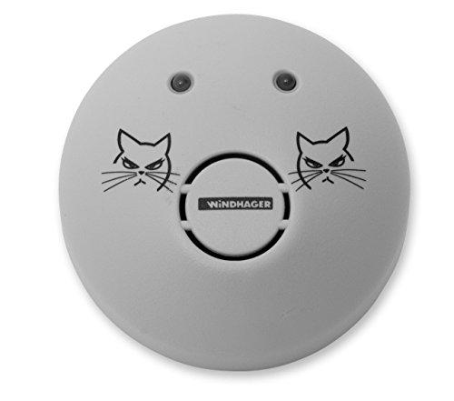 Windhager Mausvertreiber Ultrasonic, Mäuseabwehr, Maus Repeller, Ultraschall-Vertreiber, Schädlingsbekämpfer, Wirkungsbereich bis zu 80 m², 05034, Grau, bis zu 80m²