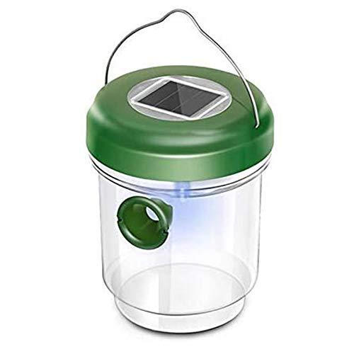 Dewanxin 2 in 1 Mückenfalle und Wespenfalle mit Solar Licht I LED Leuchte lockt Mücken an, einfach mit Lockstoff füllen I Für Drinnen und Draußen, Lockstoff für Wespen, Insekten und Holzbienen